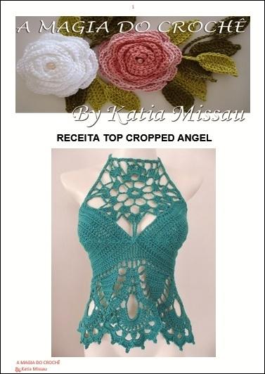 Lançamento!!! Receita Top Cropped Angel em Pdf ou Impressa
