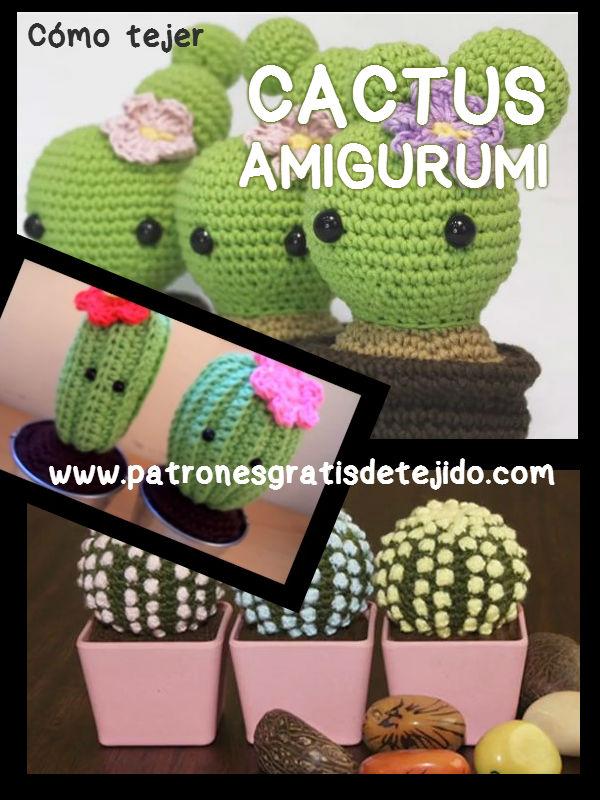 Amigurumi Cactus Paso A Paso : Cactus amigurumi versiones crochet y dos agujas