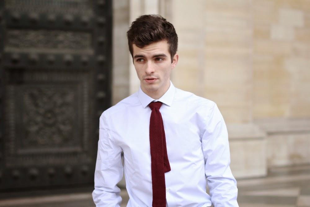 BLOG-MODE-HOMME-STYLE-MENSFASHION-Preppy-Paris_Charlie-Watch-Montre-office-artist-chemise-france-Uniqlo-Veste-costume-ceinture-tressée-chassures-boucle-chino-pantalon-asos-pochette-paisley