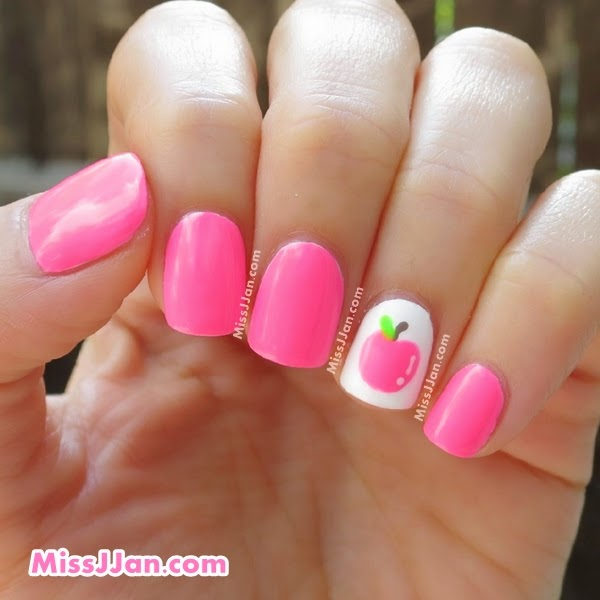 Back To School Apple Nail Designs
