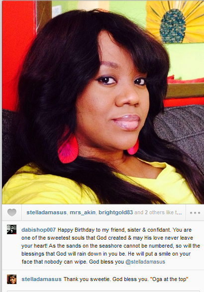 Daniel Ademinokan Sends Stella Damasus Sweet Message on Her Birthday – Photo
