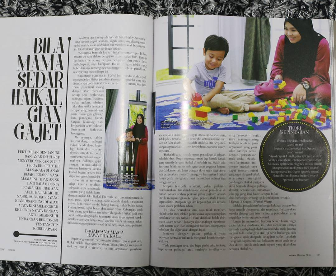Featured in Majalah Wanita. (9/10/2016)