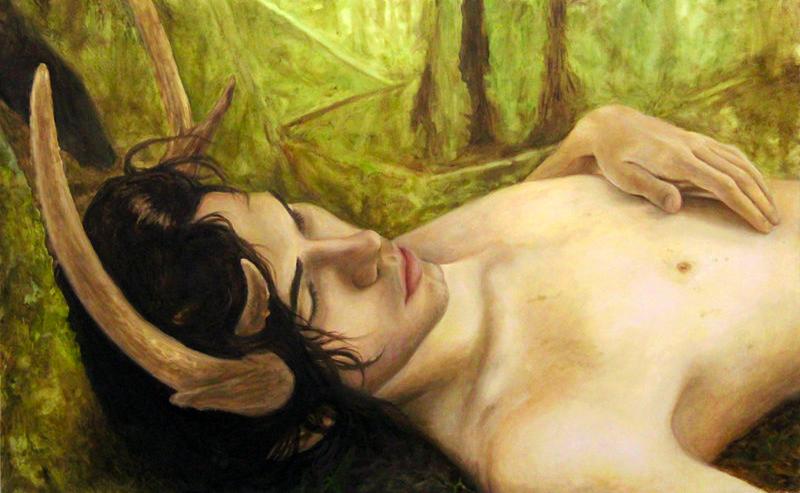 Faun's Repose by Elise Mesnard