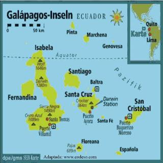 Mapa de las Islas de ECUADOR
