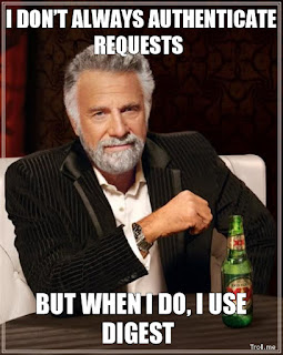 I don't always authenticate requests...