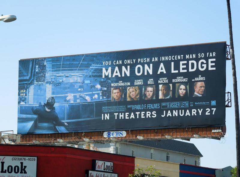Man on a Ledge billboard