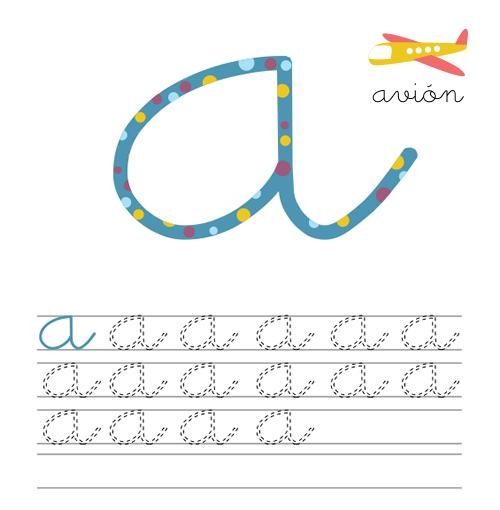 Dibujos para Colorear: Vocales minúsculas para repasar
