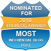 2010 nominated for most influential blogpost