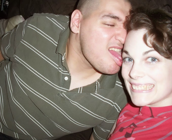 boy licking girl's face, smiley face, silly couple, goofy couple, funny, Logan Payette, Suzanne Amlin, A Coin For the Well, lifestyle blog, personal blog