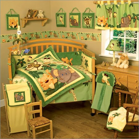 Monkey Jungle Baby Crib Bedding
