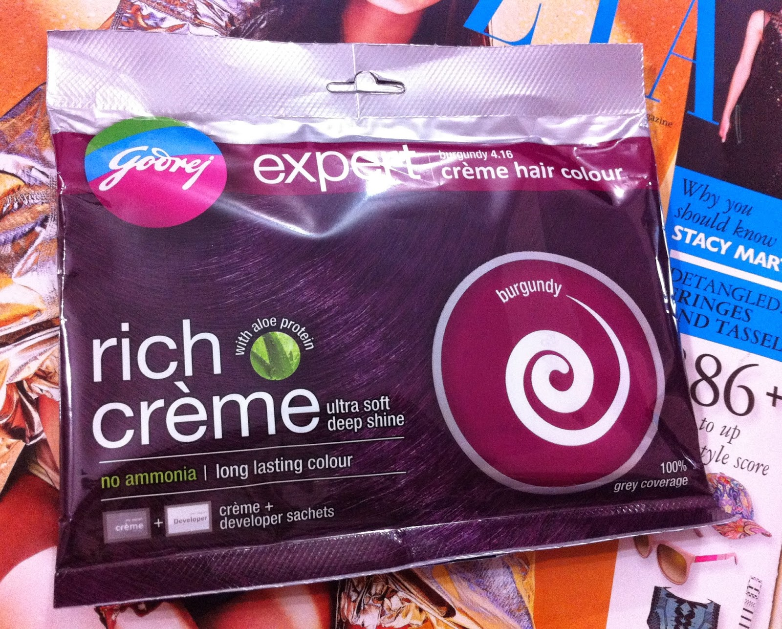 Thats Pretty Godrej Expert Rich Creme Hair Color Burgundy Review