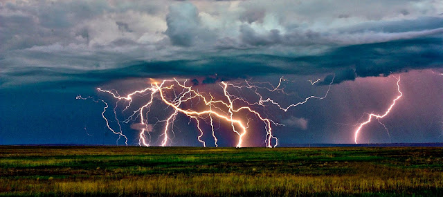 Summer Lightning near Keota The Pawnee National Grasslands in Colorado is an exceptional place both to observe nature and to stargaze. Observers have a nearly unobstructed view of the horizon. During the summer months, lightning can be seen miles away, and the night sky is generally free of annoying light pollution.  Image Credit: Robert Arn