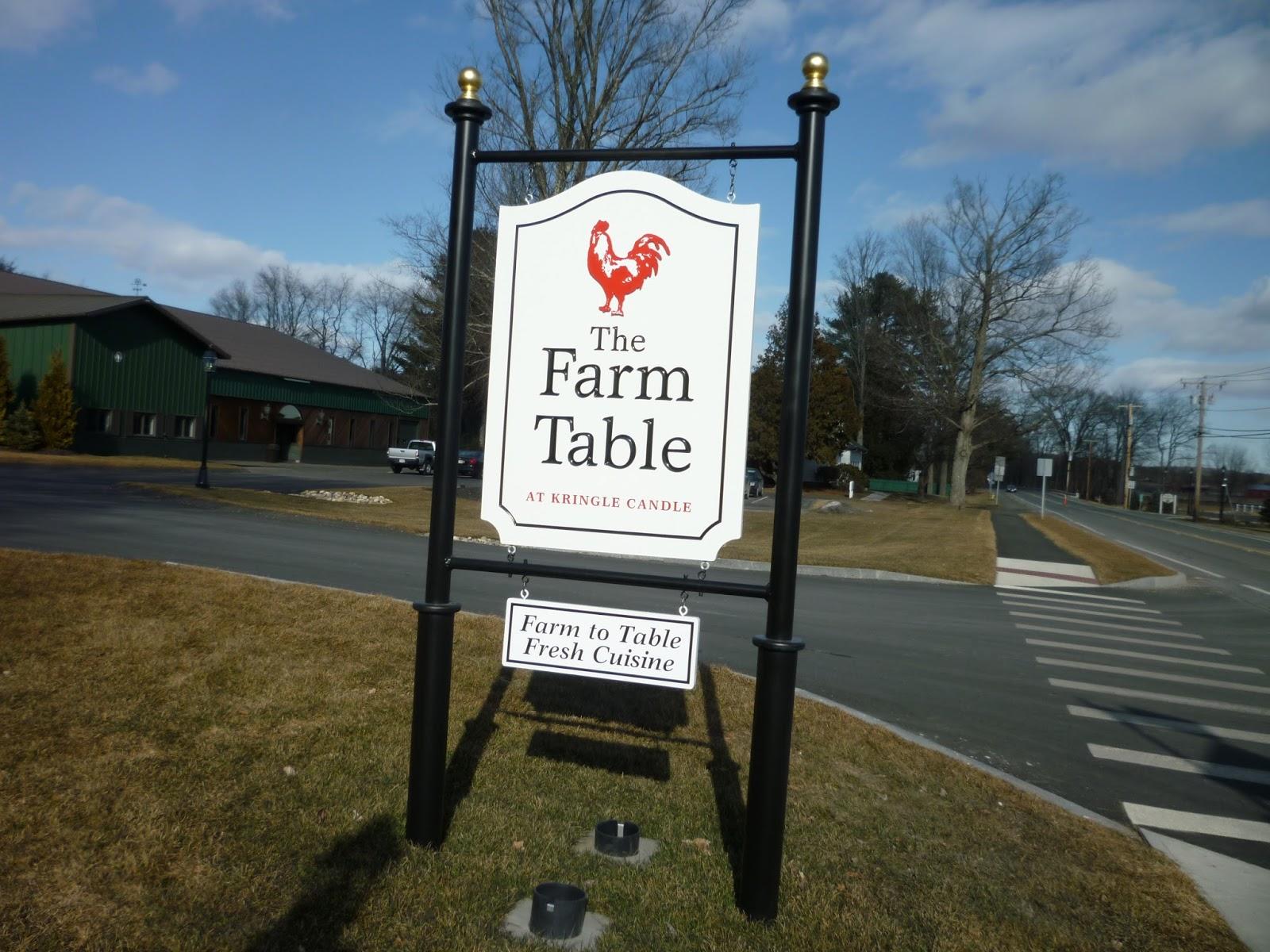 River Sister Kringle Candle And The Farm Table - Kringle farm table
