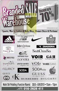 Branded Warehouse Sale 2013