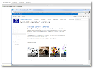 Medical Education Libraries of Course Materials