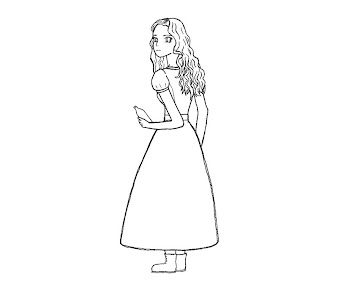 #3 Alice in Wonderland Coloring Page
