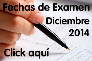 Fechas de Exámenes Previos Diciembre 2014
