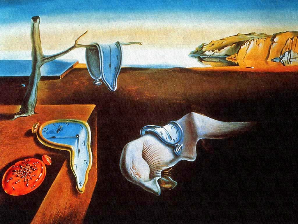 Salvador Dali, The Persistence of Memory close up watches surreal