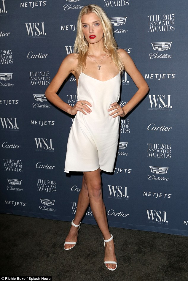 Lily Donaldson goes braless at the WSJ Innovator Awards in NYC