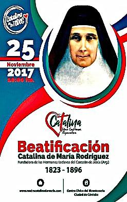 BEATIFICACIÓN DE MADRE CATALINA