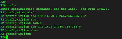 Konfigurasi dasar Router R2
