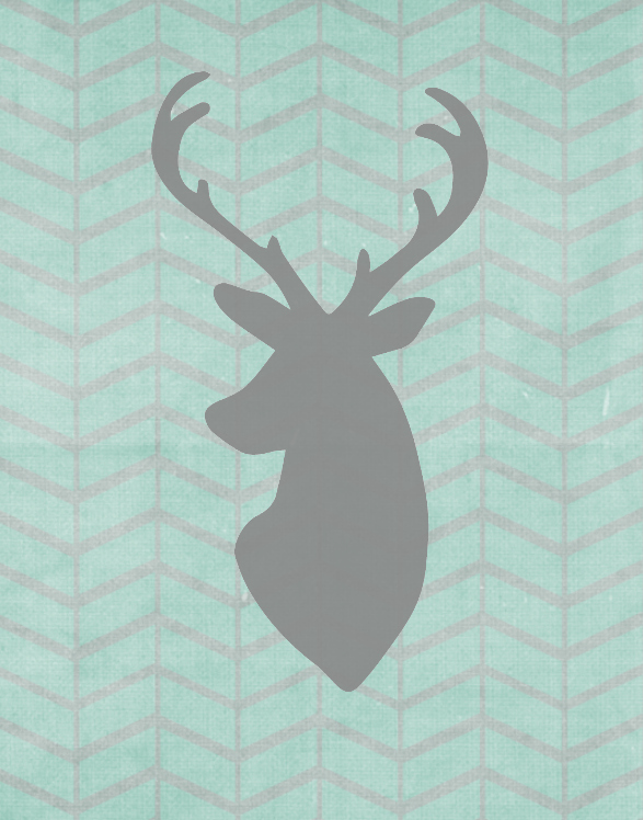 Anchored West: FREE freebie art prints - deer head silhouettes