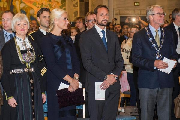 Crown Princess Mette-Marit of Norway attends the citizenship ceremony