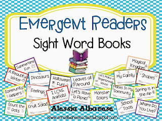 http://www.teacherspayteachers.com/Product/Emergent-Readers-Sight-Word-Books-1021991