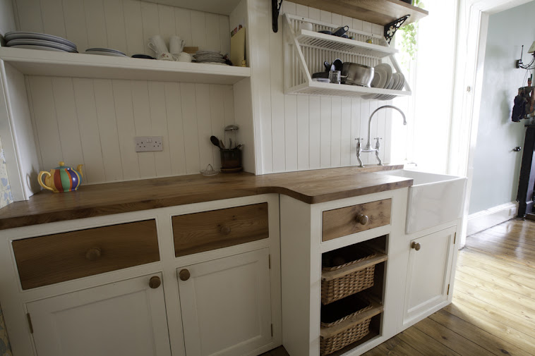 Hand-made Kitchen in Elm, Pine & Plywood