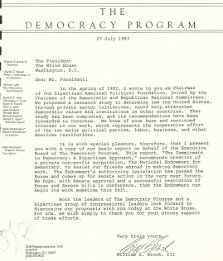 """The Democracy Program"" Letter to President Ronald Reagan (1983)"