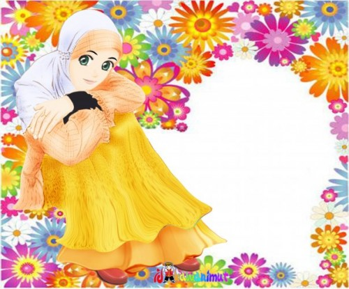 wallpaper collection of animated hijab