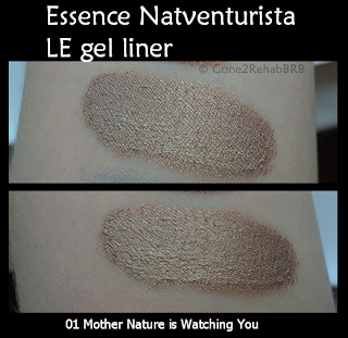 Essence Natuventurista gel liner Mother Earth is watching you swatches