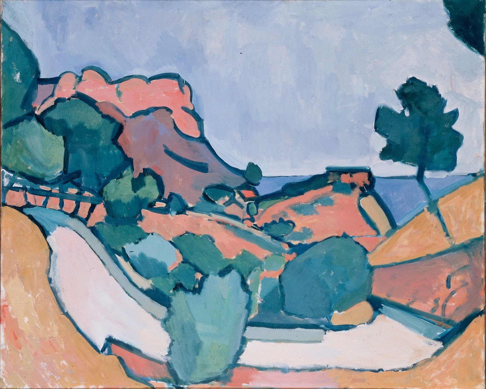 Andre Derain Road in the mountains