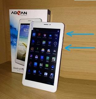 Cara Mengambil Screenshot di Tablet Advan Vandroid T1J