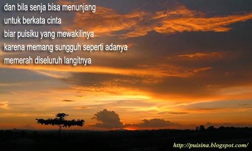 Puisi Cinta Memerah Diseluruh Langitnya