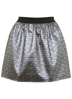 Miss Selfridge metallic skirt