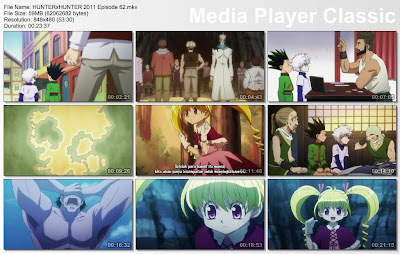 "Download Film / Anime Hunter x Hunter 2011 Episode 62 ""Kenyataan dan Kartu Kasar"" Bahasa Indonesia"