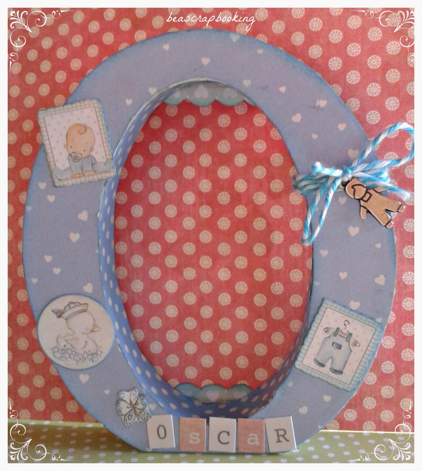 Beascrapbooking letras infantiles decoradas o de oscar y d de daniela - Letras decoradas infantiles ...