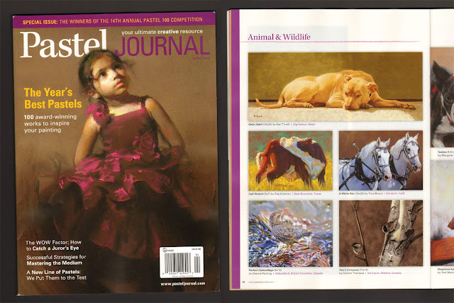 Colette Theriault's painting wins Honorable Mention Award at Pastel Journal's Pastel 100 Competition