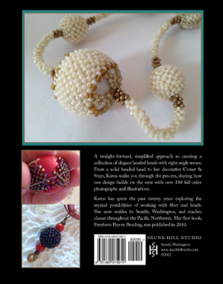 Back Book Cover: Corsets, Caps and Stays: Elegant Beaded Beads with Right Angle Weave