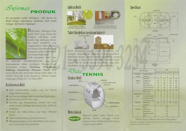 septic tank biofil, induro, bioseptic, biocomb, bio, modern dan baik, toilet portable fiberglass, stp, ipal, BROSUR, KATALOG
