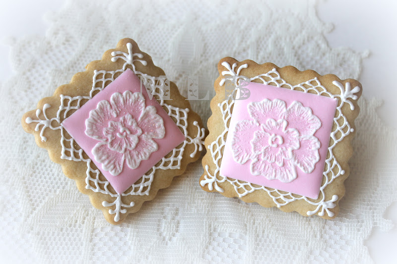 lace cookies | Bridal Cookies | Pinterest