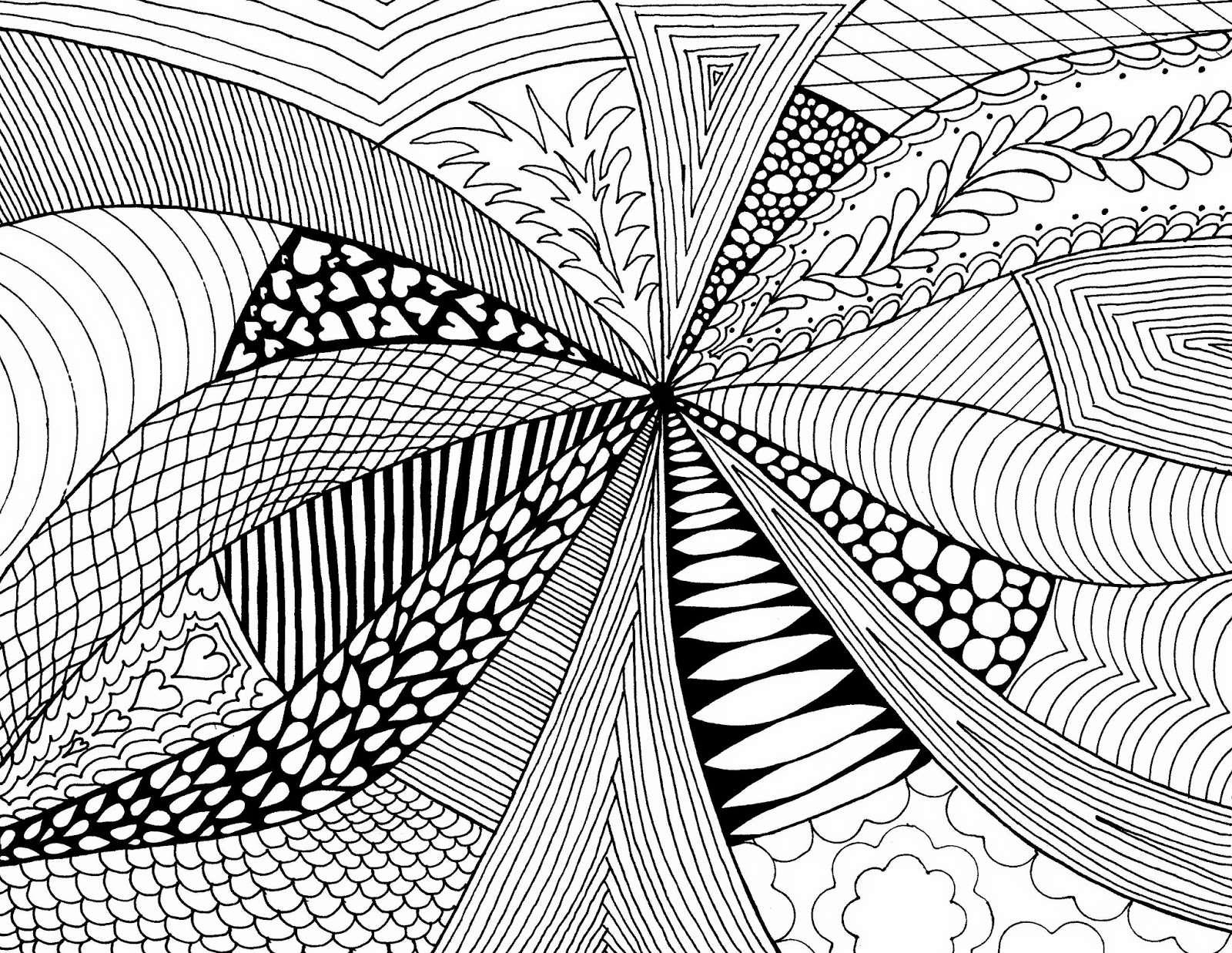 Abstract Line Art Design : Mother is not pleased drawing the lines