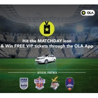 Get Free VIP Football Tickets Riding on OLA App :buytoearn