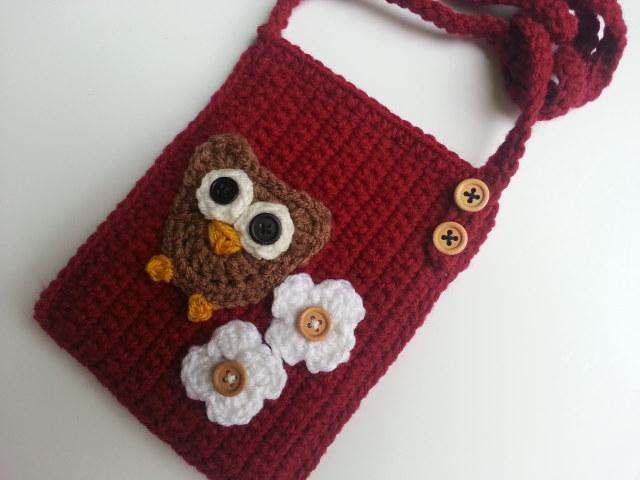 Free Crochet Patterns For Owl Purses : Raising Mimi @PoochieBaby: Crochet Owl Purses