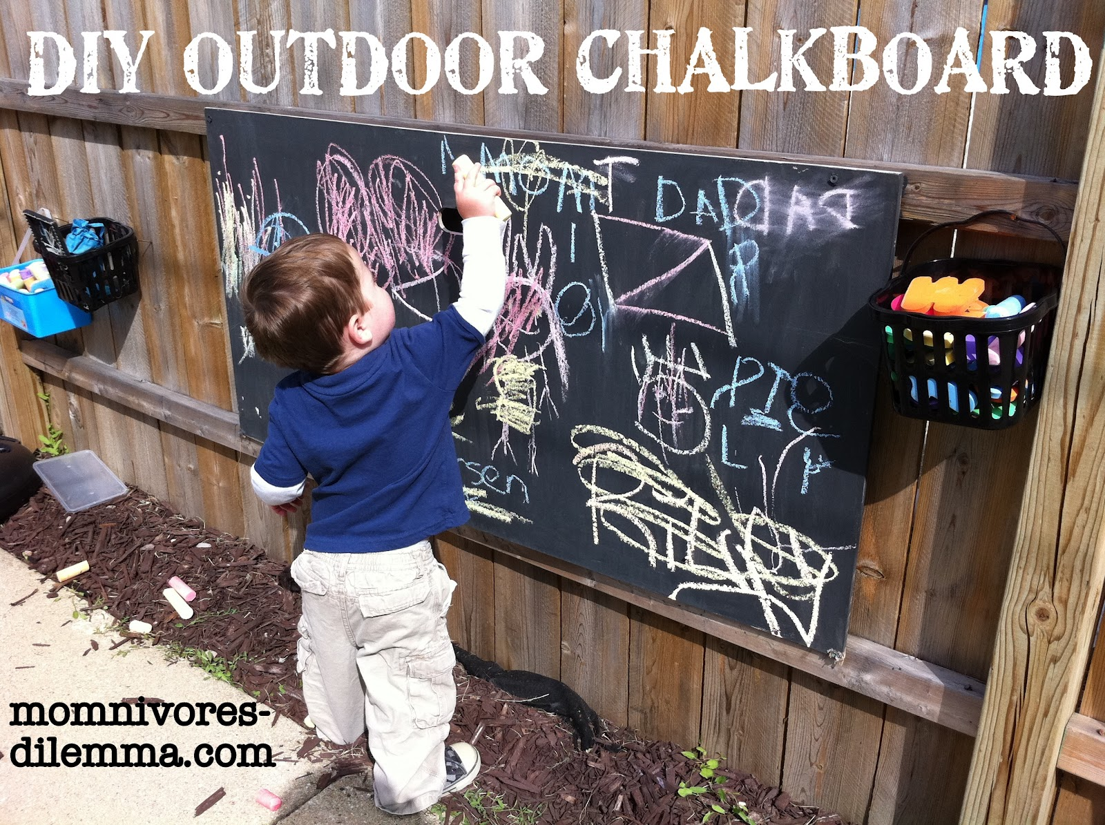 Diy outdoor chalkboard tutorial momnivore 39 s dilemma for Project weekend
