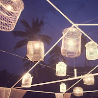 Dance Floor Decorated with Bird Cage Lights