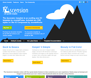 Ascension - K2 Specific Joomla Template