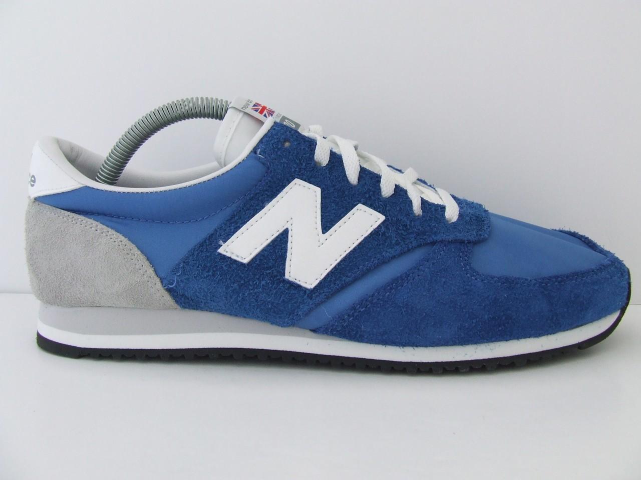 Unisex New Balance Trainers U420UB Blue & White Retro Suede Nylon Sneakers Shoes