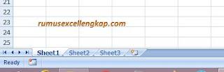 tampilan sheet secara default